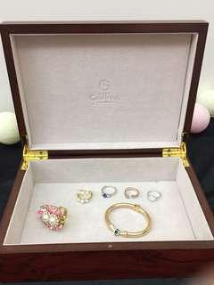 原木制 首飾盒 錶盒 化妝盒 皮帶盒 22x16x7cm 99%new
