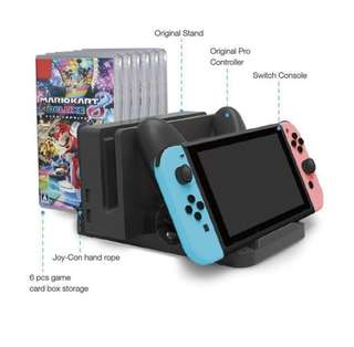 Nintendo Switch Multifunctional 2 Charging Stand Card Box