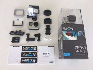 Go Pro Hero 4  with Box - Complete Accessories