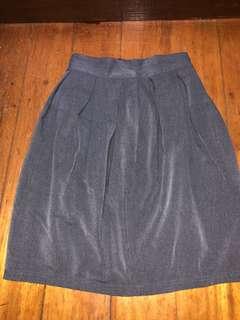 Office / corporate pleated midi skirt