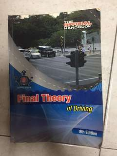 Preloved Final Theory of Driving Book