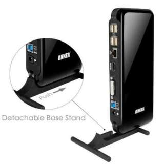 ANKER Docking Station DVI/HDMI Ethernet USB Adapter Surface Pro 2 3 4