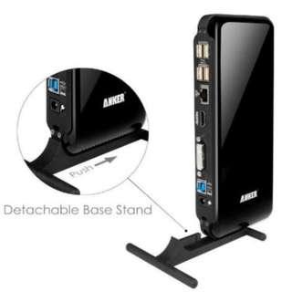 ANKER Docking Station DVI/HDMI Ethernet USB Adapter Surface Pro 2 3 4
