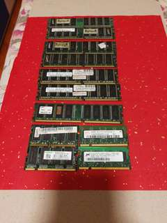 PC-400 DDR 512mb 7條 notebook DDR2 256mb 4條