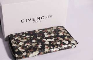 NEW and UNUSED Givenchy Floral Long Zip Around Wallet
