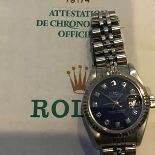 Rolex DAte Just With Diamonds