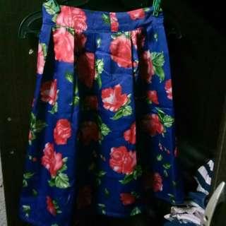 Floral Skirt (Knee Length 4'11)