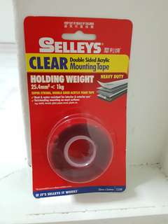 Selleys Acrylic clear mounting tape