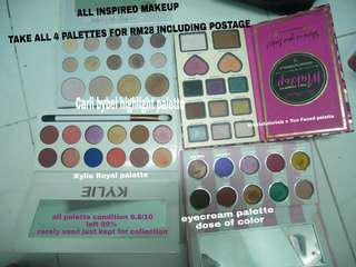 Eyeshadow all 4 for RM28 only!