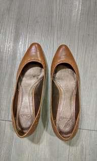 Clark's淑女鞋,咖啡色,Size36,2.5公分高