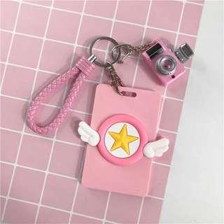 🚚 📣特價 超可愛庫洛魔法使小櫻卡片保護套鑰匙圈♡預購♡