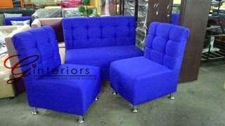 Sofa Set (2-1-1 Tufted Mini Sofa)
