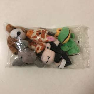 NLB Finger Puppets - Frog, Elephant, Dog, Monkey & Giraffe