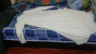 Dress saiz 44. Condition 9/10. Warna krim