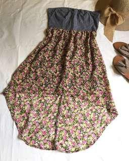 Tube flower print dress
