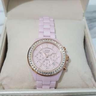 鐵達時陶瓷女裝腕錶