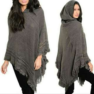 Knitted Irregular Poncho