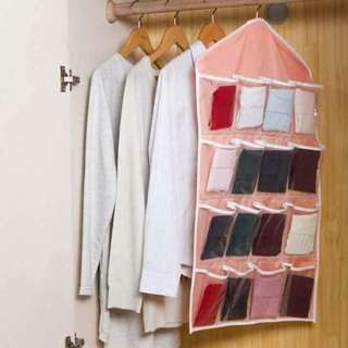 Underwear Hanging and Foldable Organizer