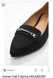 Call It Spring Black Pointed Flats (Holmquist)