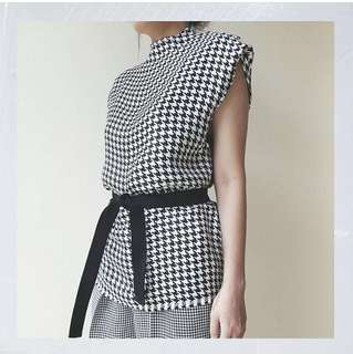 Day & Night Official Houndstooth Top