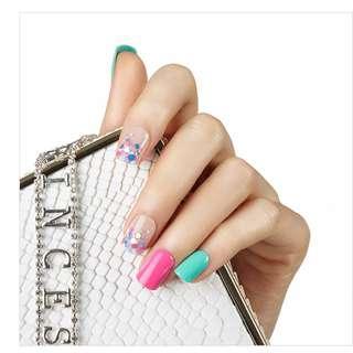 🚚 Dashing DIVA Magic Press nails -Vivid Bubble Candy