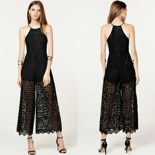 🚚 BNWT TCL WILLOW LACE JUMPSUIT IN BLACK
