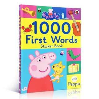 粉紅豬小妹 Peppa Pig: First 1000 Words Sticker Book