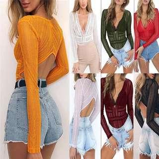 Mesh Lace Bodysuit [PO] #fashion75