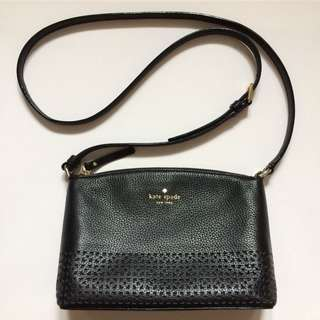Kate Spade Black Pebbled Leather Crossbody
