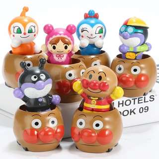 🚚 Anpanman 麵包超人 細菌人 紅精靈 藍精靈 嬰兒超人 蘋果超人 疊疊樂 車子 擺件 擺飾 公仔 遊戲 玩具 玩偶 人物 模型 可愛 造型 特別 創意 療癒