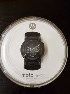Moto 360 2nd Gen, 46mm Men model, black metal band