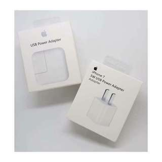 "Apple wall charger 5w with box and manual ""Order now"""