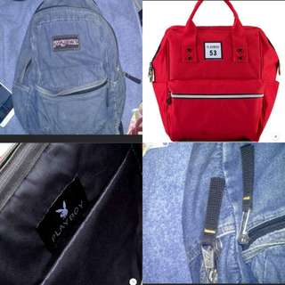 Authentic Denim Jansport and Playboy (Anello inspired) Backpack