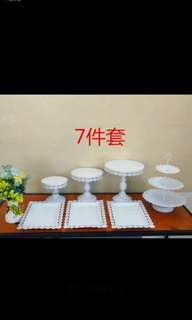 🚚 Rental dessert trays -7 pieces