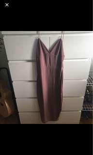 Boohoo slinky midi dress