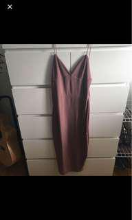 Boohoo slinky midi dress