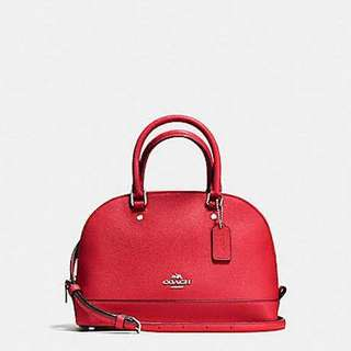 Authentic coach mini satchel