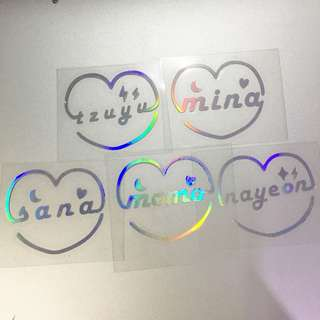 Twice hologram sticker