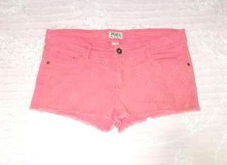 """""""Mudd"""" Laced Pomelo Stretchable Shorts Plus Size"""