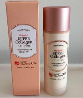🚚 Etude House Moistfull Super Collagen CC Cream SPF 33 / PA+++ in Natural Beige