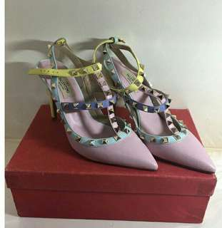 Valentino Multicolor 4 inch heels Slightly used
