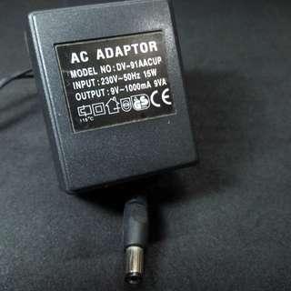 9V AC 1000mA Power Supply Adaptor