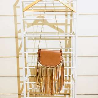 SM Parisian Boho Fringed Sling Bag