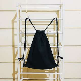 Basic Black Drawstring Bag