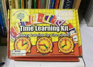 Time learning kit for pre school