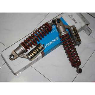 (SOLD)  KISS RACING TEAM Shock absorbers Rear Suspension with nitrogen air for solid suspension HONDA CB400   Fixed price