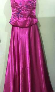 Satin tube Long gown