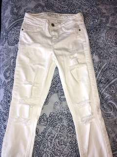 Mendocino Only brand White Ripped Jeans