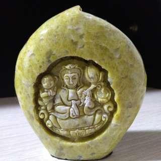 🚚 岫玉原石雕擺件