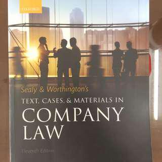 Company Law Textbook Sealy and Worthington